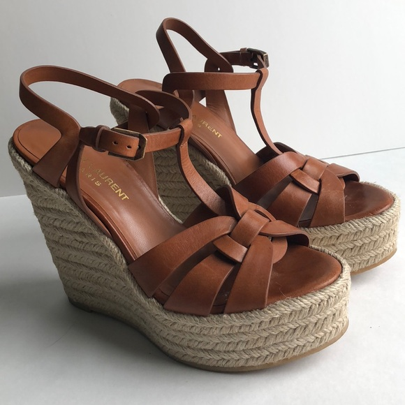 73dcfda74e3e YSL Saint Laurent Tribute Espadrille Wedge 36 Tan.  M 5ac27021d39ca204d21d0f35